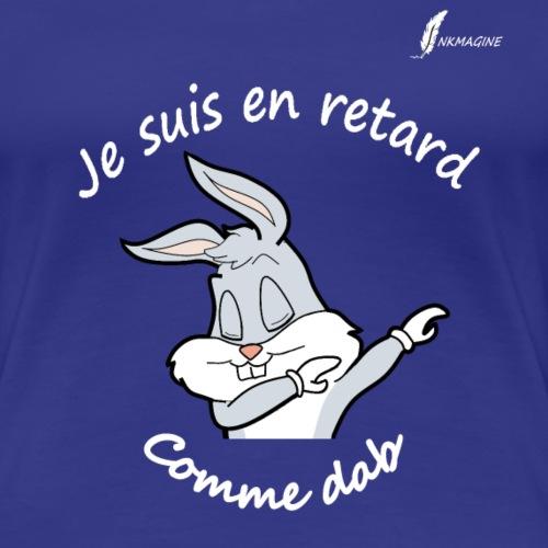 bunny-shirt écriture blanc - T-shirt Premium Femme