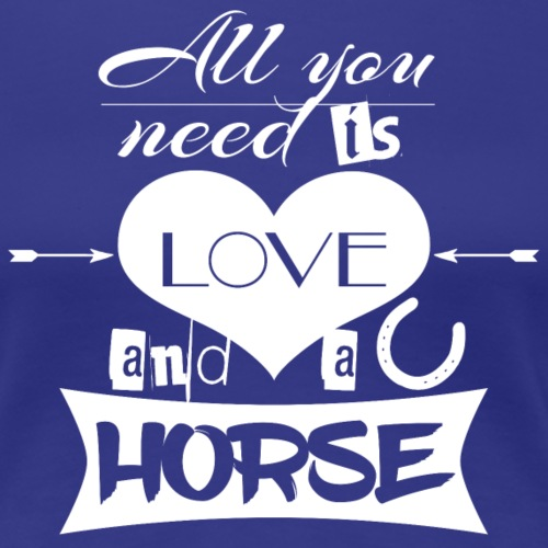 Love and Horses weiß - Frauen Premium T-Shirt