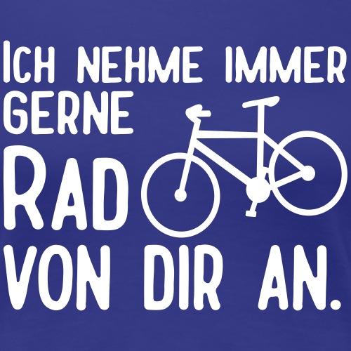 Lustige Radfahrer Fahrrad Sprüche - Frauen Premium T-Shirt
