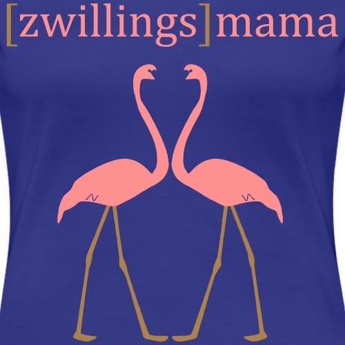 Zwillingsmama - Frauen Premium T-Shirt