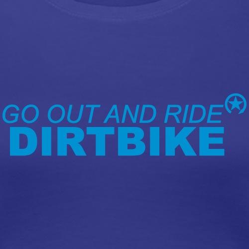 jeździć dirtbike bl - Koszulka damska Premium