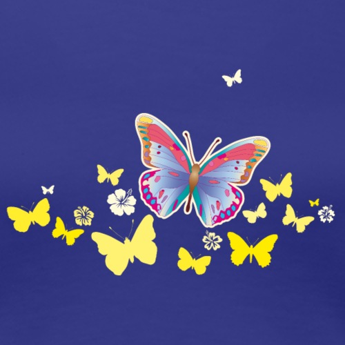 Schmetterlinge Falter Insekten Frühling Sommer - Women's Premium T-Shirt