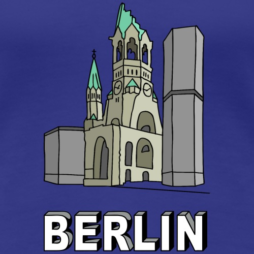 Chiesa dell'Imperatore Guglielmo Berlin c - Maglietta Premium da donna