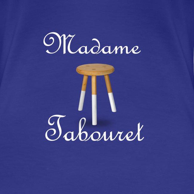 Madame tabouret Blanc