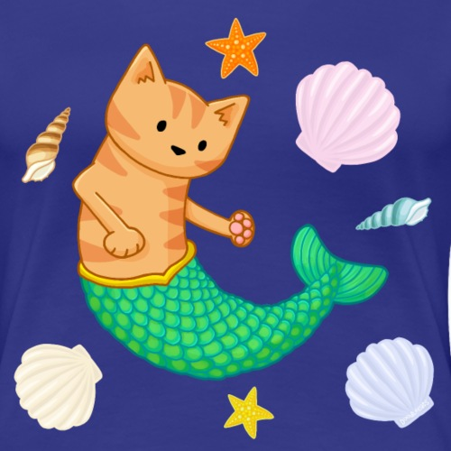 Mermaid Cat - Women's Premium T-Shirt