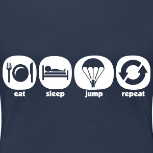 Eat Sleep Jump Repeat - T-shirt Premium Femme
