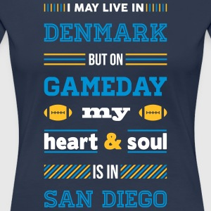 I may live in Denmark... (San Diego edition) - Dame premium T-shirt