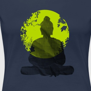 Buddha Meditation India Yoga namaste world green wa - Women's Premium T-Shirt