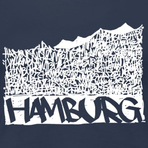 Hamburg Music Hall - Vit - Premium-T-shirt dam
