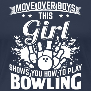 bowling MOVE OVER pojkar - Premium-T-shirt dam