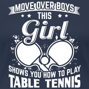 table tennis MOVE OVER - Frauen Premium T-Shirt