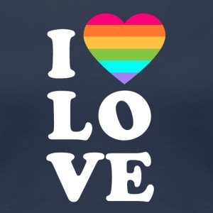 I love LGBT - Women's Premium T-Shirt