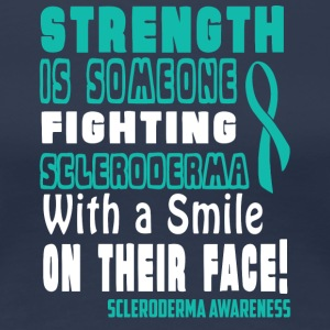 Scleroderma Awareness! Fighting with a Smile! - Women's Premium T-Shirt