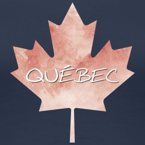 Maple Leaf Québec - Vrouwen Premium T-shirt