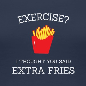 Extra fries white - Women's Premium T-Shirt