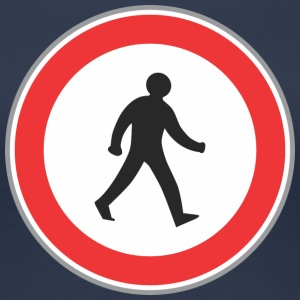 Road walking sign man - Vrouwen Premium T-shirt