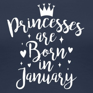 Princesses are born in January - Women's Premium T-Shirt