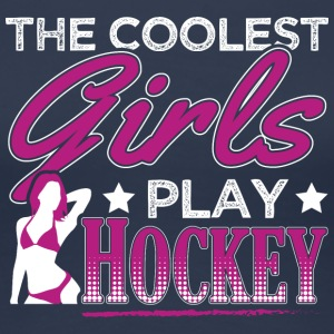 Fedeste GIRLS PLAY HOCKEY - Dame premium T-shirt