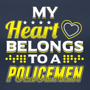 My Heart Belongs To A Policeman - Women's Premium T-Shirt