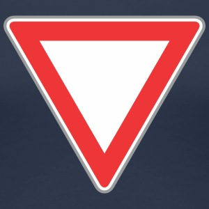 Road Sign beneden driehoek - Vrouwen Premium T-shirt