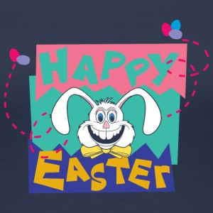 Påske Happy Easter Bunny - Dame premium T-shirt