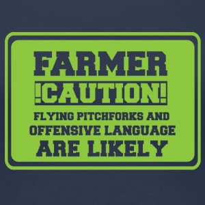 Farmer / Landwirt / Bauer: Farmer! Caution! Flying - Frauen Premium T-Shirt