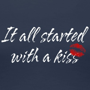 Pregnant It All Started With A Kiss - Women's Premium T-Shirt