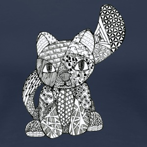 Zentangle-Kitten - T-shirt Premium Femme