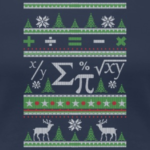 Mathematicians Ugly Christmas - Women's Premium T-Shirt