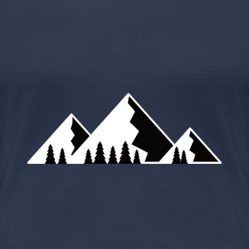Berg mit Tannen - Frauen Premium T-Shirt