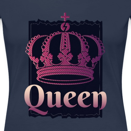 COOL QUEEN AND KING CROWN - Premium-T-shirt dam