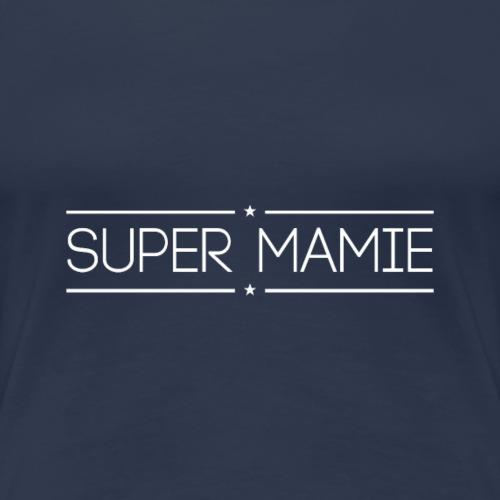 Logo Super Mamie Blanc - T-shirt Premium Femme