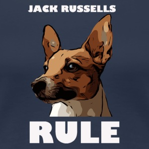 Jack russels rule white - Women's Premium T-Shirt
