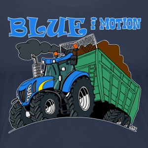Blue in motion border - Women's Premium T-Shirt