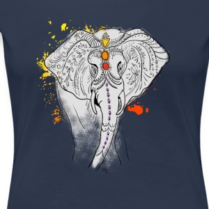 Elephant toward Ganesha Yoga Buddhism Chakra Jewelry - Women's Premium T-Shirt