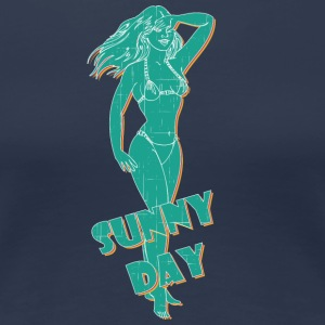 sunny day with sexy girl vintage - Women's Premium T-Shirt