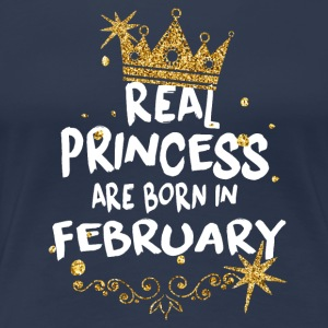 Real princesses are born in February! - Women's Premium T-Shirt