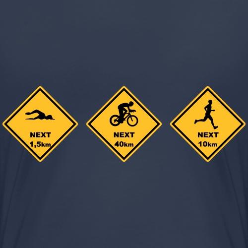 Triathlon olyp. Distanz australien Roadsign - Frauen Premium T-Shirt