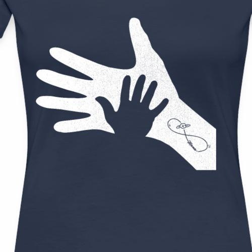 Handabdruck Mama Kind Infinty Tatoo Muttertag - Frauen Premium T-Shirt