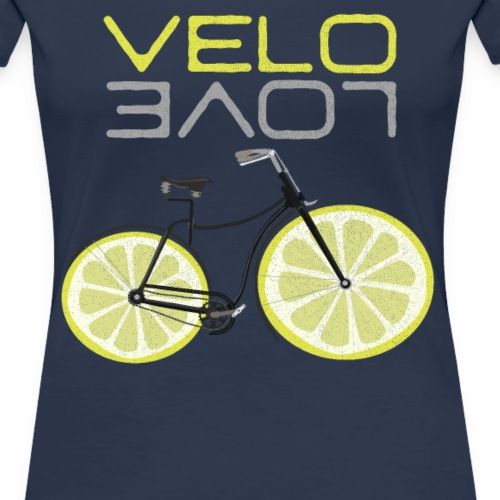 Lemon Bike Shirt Velo Love Shirt Radfahrer Shirt - Frauen Premium T-Shirt