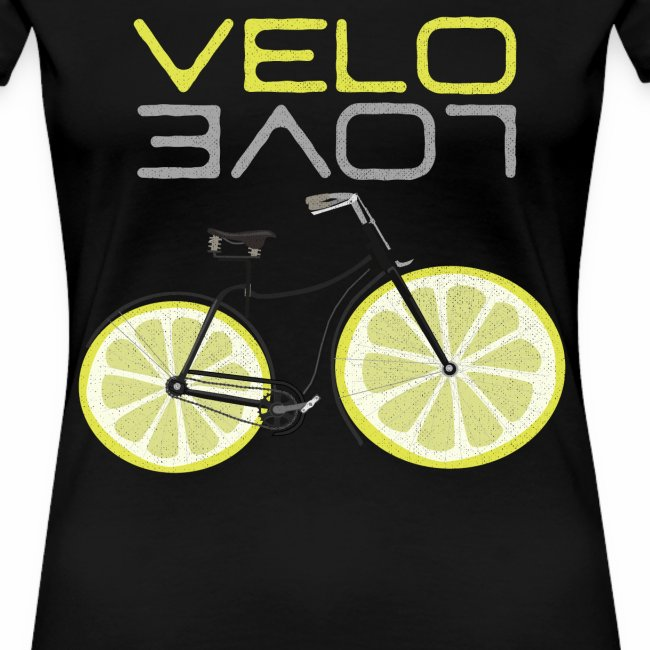 Lemon Bike Shirt Velo Love Shirt Radfahrer Shirt