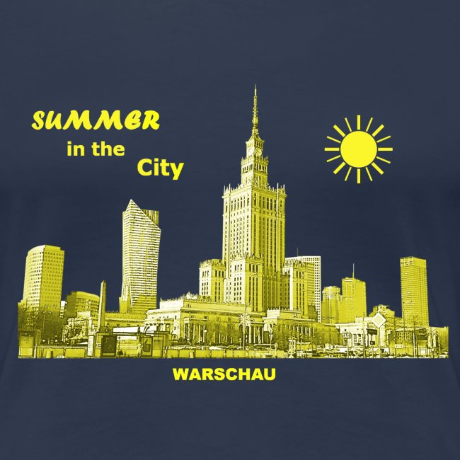Summer Warschau City Warsaw Kulturpalast Polen