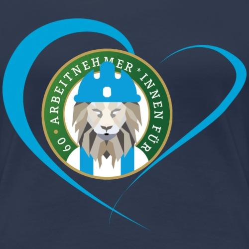 Arbeitnehmer*innen für Sechzig - Herz - Frauen Premium T-Shirt