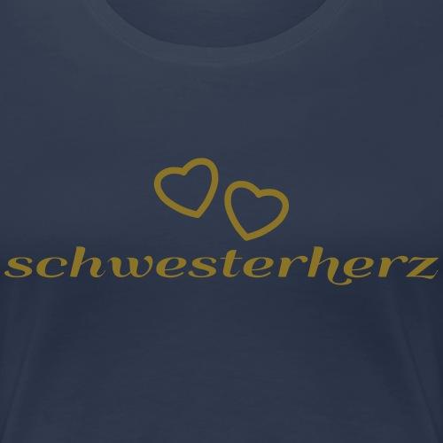 sister heart - Women's Premium T-Shirt