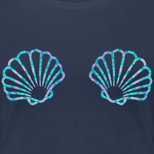 Muschel Meerjungfrau Fasching Karneval Kostüm Shir - Frauen Premium T-Shirt