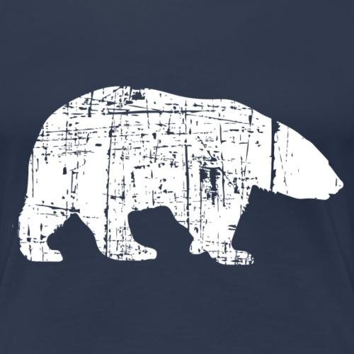 Eisbaer Silhouette weiss - Frauen Premium T-Shirt