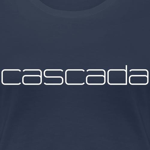 CASCADA FONT WHITE - Women's Premium T-Shirt