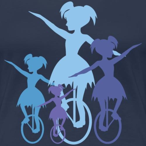 Einrad Girls - Frauen Premium T-Shirt