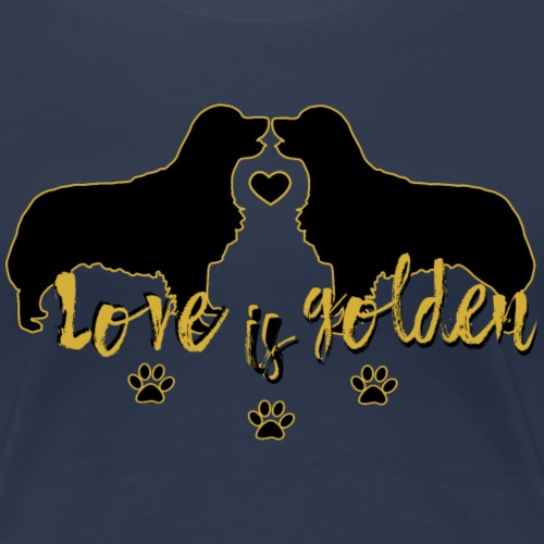 Golden Retriever T-Shirt Love - Frauen Premium T-Shirt