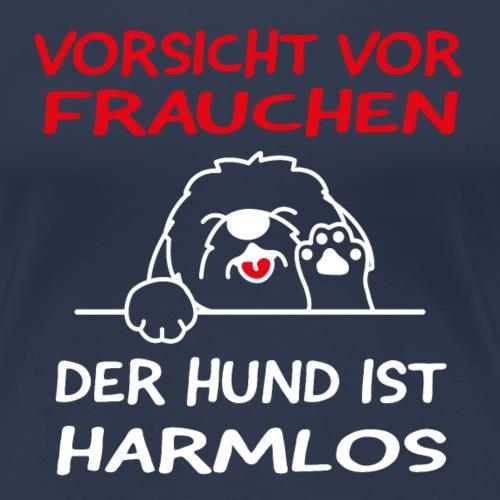 Vorsicht vor Frauchen - der Hund ist harmlos - Frauen Premium T-Shirt